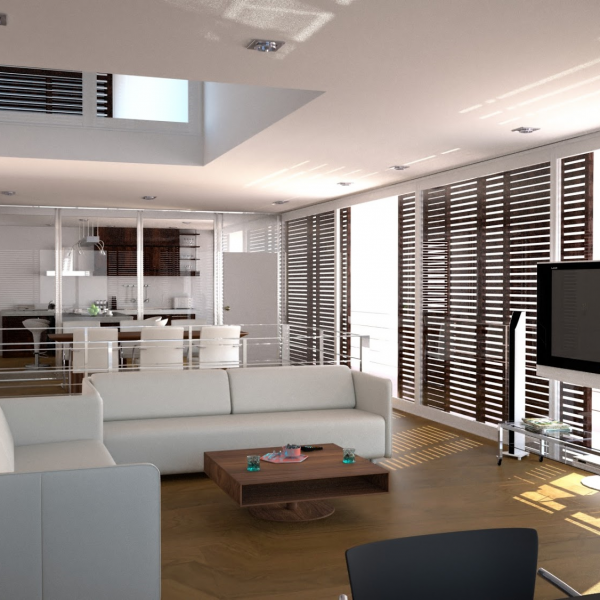 Latex spuiten plafond en wanden in RAL9016 appartement afgerond project.