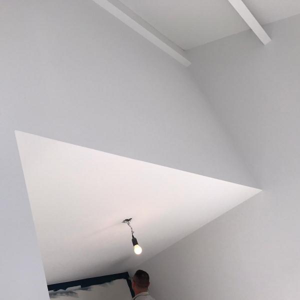 Latex spuiten van wanden en plafonds in Oss.