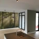 Renovlies + fotobehang + Latex spuiten van wanden en plafonds in Kesteren.