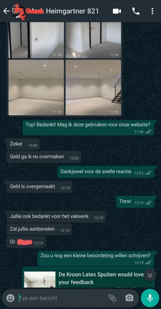 WhatsApp afbeelding gesprek project in Voorthuizen.
