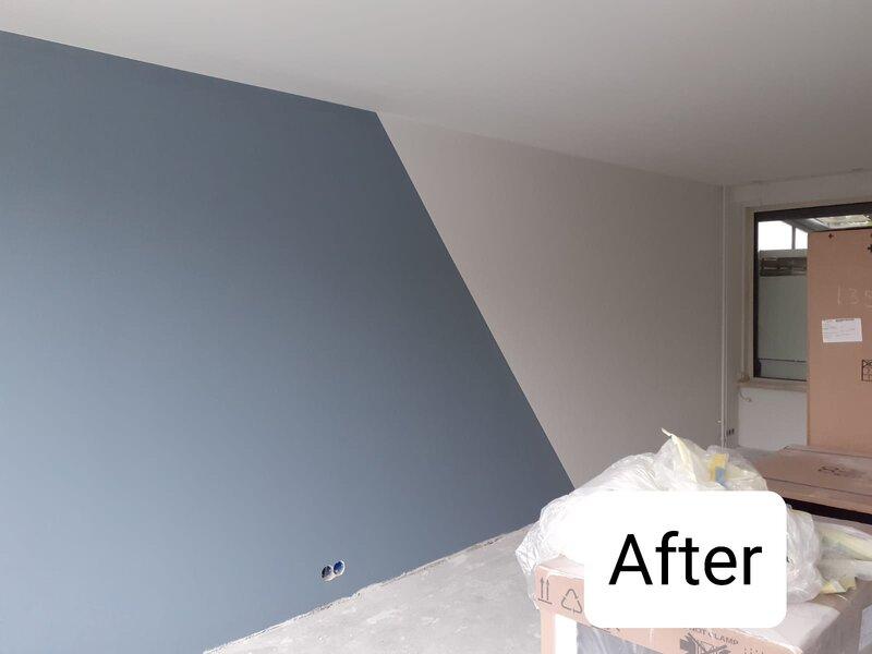Latex spuiten van wanden en plafonds in Den Bosch.