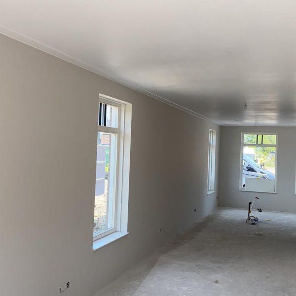 Latex spuiten van wanden en plafonds in Zuidoostbeemster.